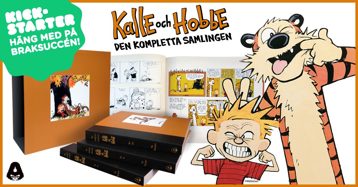 Var med och crowdfunda en lyxutgåva av Kalle och Hobbe!